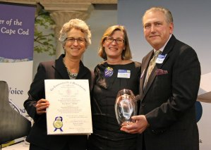 Representative Sarah Peake, Lynn Stanley, and Arts Foundation of Cape Cod Executive Director Kevin Howard