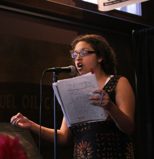 SLAMCAMP poet boldly shares her soul at Pittsfield's WordXWord Festival slam 2013.