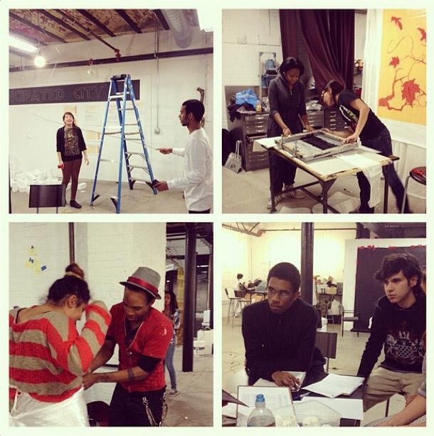 Preparation for Urbano's Dec. 2013 show