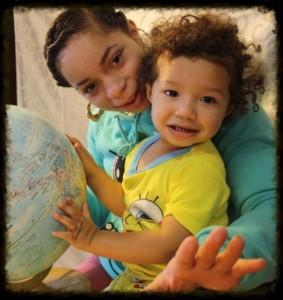 Jasmine Colon-Thomas and her son Harlem