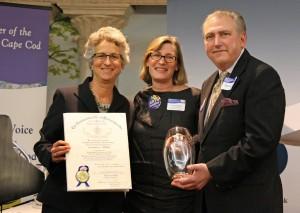 Representative Sarah Peake, Lynn Stanley, and Arts Foundation of Cape Cod Executive Director Kevin Howard