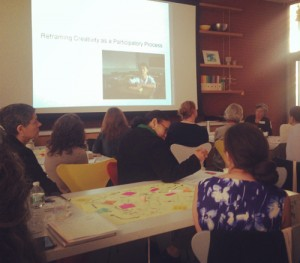 Attendees at the Sam Francis Foundation Creativity in Learning roundtable at the Isabella Stewart Gardner Museum