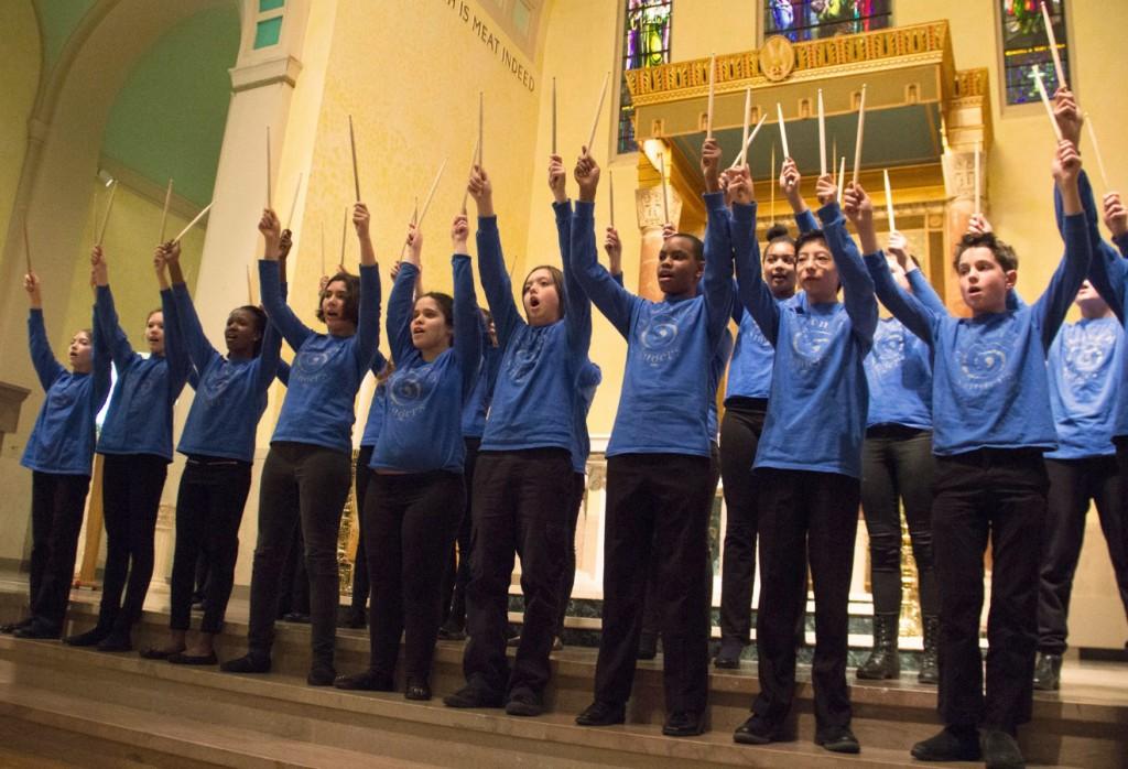 Boston City Singers performing in North Cambridge