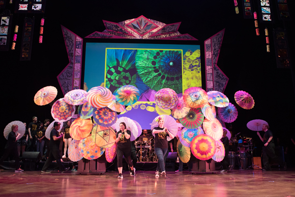 ExYO parasol show. Photo by Mike Dean Photos.