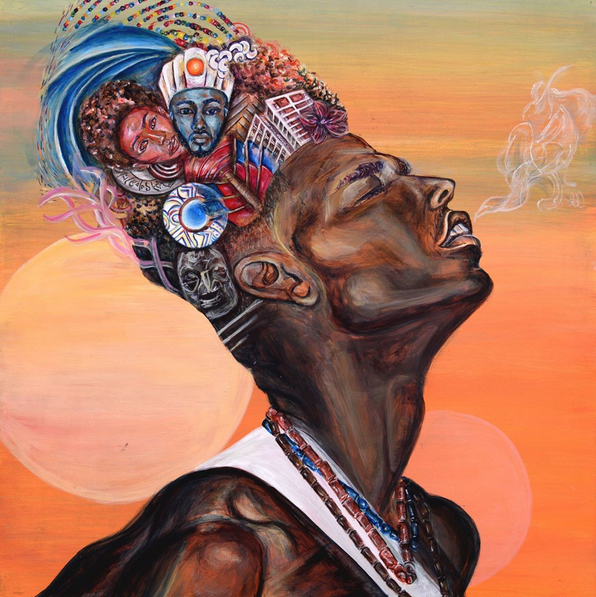 Painting by Adriana Dalice, Artists for Humanity Alum.