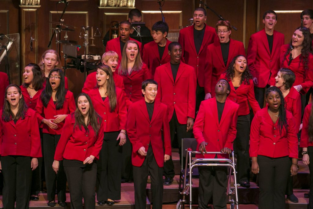 Boston Children's Chorus performing. Image: Gretjen Helene.