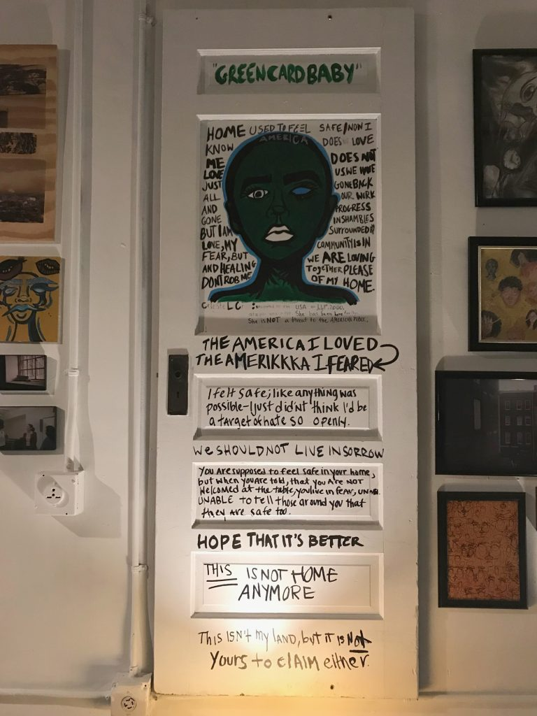 """Green Card Baby"" by youth artists at Elevated Thought"