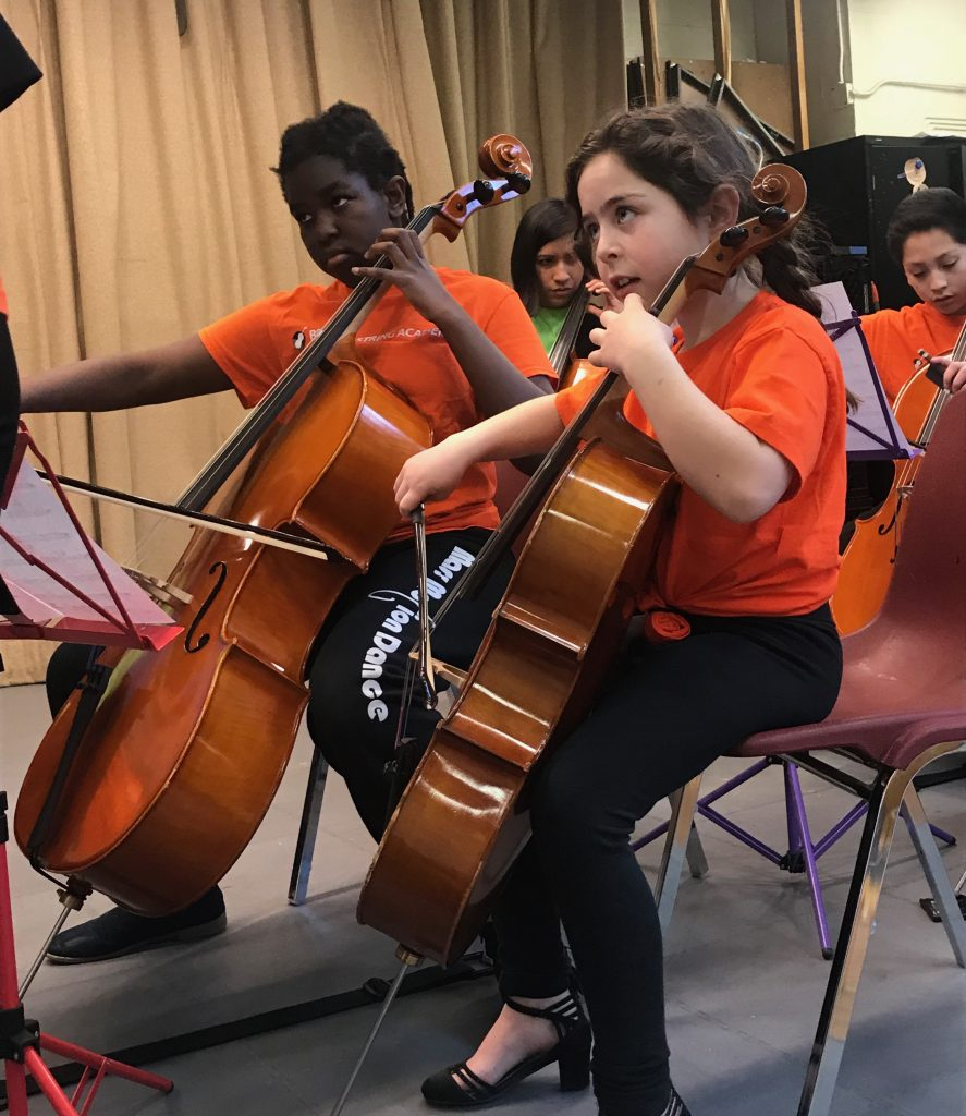 Boston String Academy (BSA), a Mass Cultural Council grantee, is inspired by El Sistema. BSA provides after school string programs for inner-city young students, offering high quality string instrument instruction, using standards that will give them the necessary skills to build a strong foundation in their musical growth.