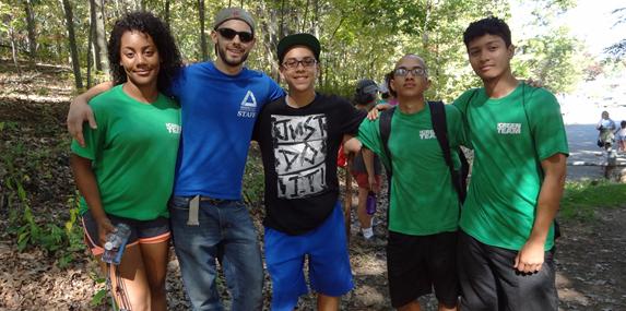 Groundwork Lawrence's Green Team at Den Rock Park Hike.